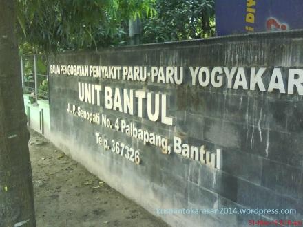 Balai Pengobatan Penyakit Paru-Paru Yogyakarta Unit Bantul