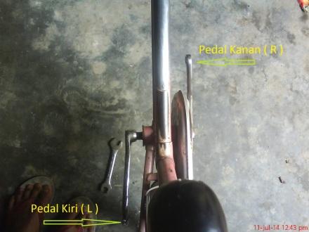 tuas pedal kanan dan kiri