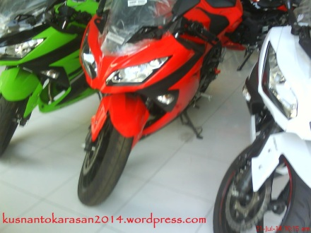 ninja 250 warna merah