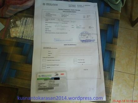 Salah satu contoh surat rujukan dari puskesmas Bambanglipuro, dengan jaminan kesehatan BPJS.
