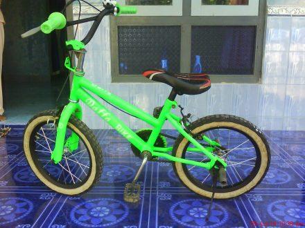 Sepeda yang telah selesai dirangkai