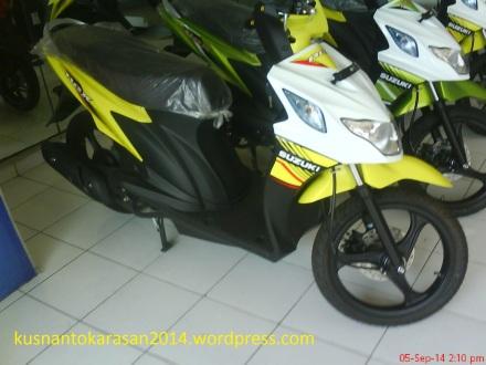 """Nex warna kuning di dealer Suzuki """"INDOJAYA DONGKELAN"""""""
