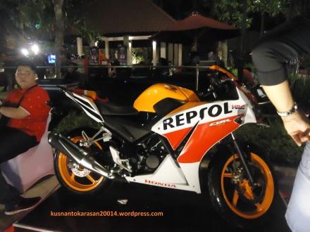 CBR 150R edisi Repsol saat di acara launching di Hotel Sheraton Yogyakarta