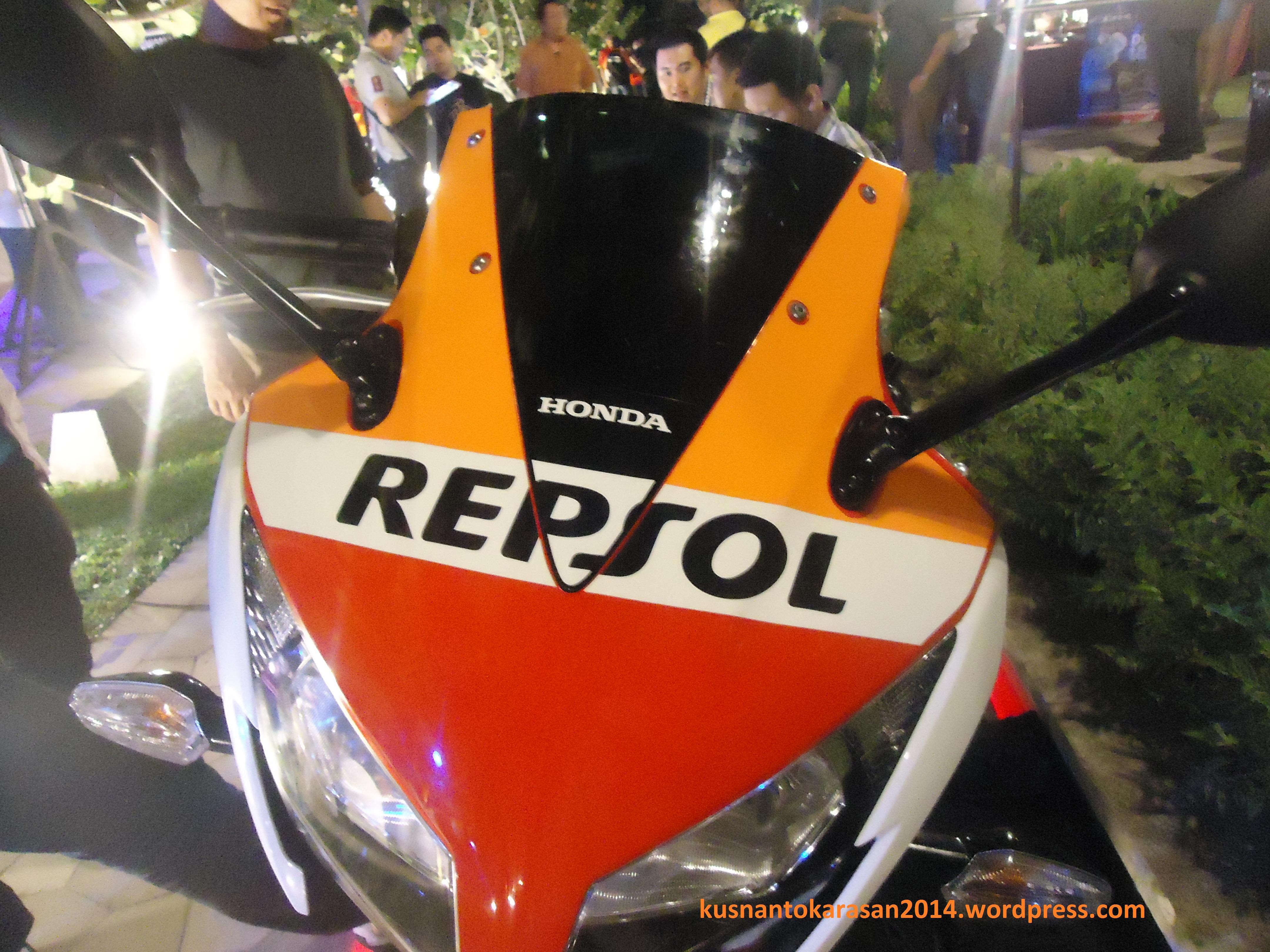 Tamapak depan Honda CBR 150R AHM