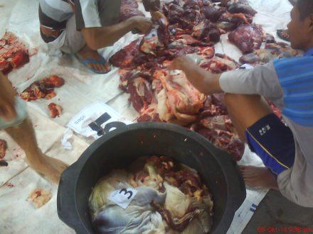 pemberian nomaor secara kontinyu dan estafet meminimalisir daging tertukar dengan yang lain