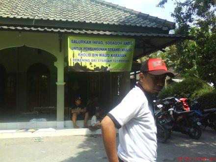 Masjid Kholid Bin Walid Karasan, tempat pelaksanaan  penyembelihan hewan Qurban