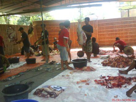 Proses pemotongan daging