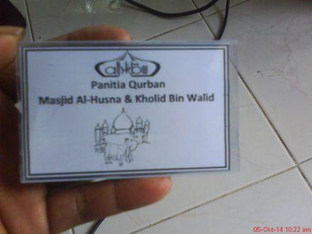 tanda pengenal panitia Qurban