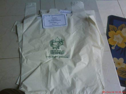 plastik waah daging Qurban