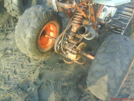 sisi belakang ATV di Pantai Depok-Parangtritis
