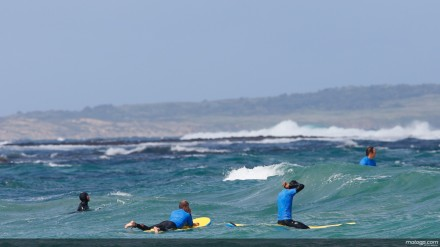 para rider Motogp menikmati segarnya air laut Phillip Island