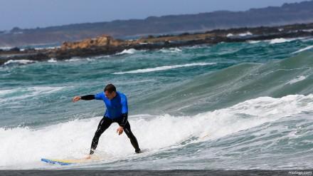 Stefan Bradl surfing