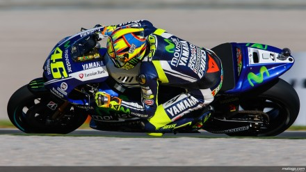 Valentino Rossi di atas Yamaha Movistar MotoGP