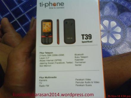 Spesifikasi HP ti-phone Seri T39