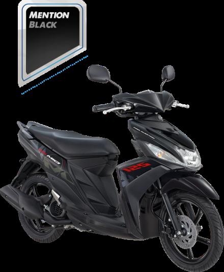 Mio M3 125 warna Mention Black / Hitam