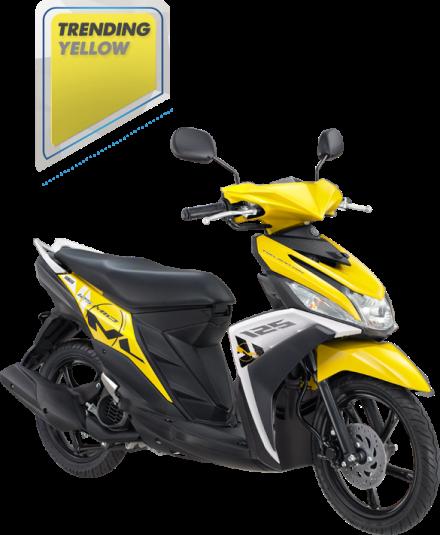 Mio M3 125 warna Trending Yellow / Kuning