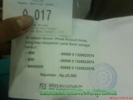Nomor antrian bank dan nomor Virtual Account