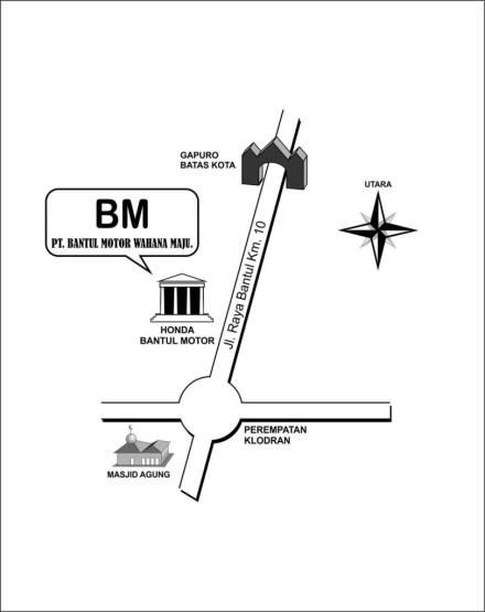 Denah Lokasi Dealer Bantul Motor Wahana Maju