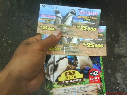 Iniloh tiket masuk Ke Gembira Loka Zoo