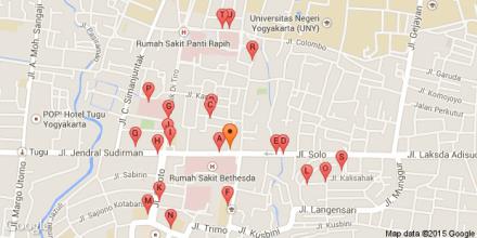 ini peta Galeri Mall Yogyakarta