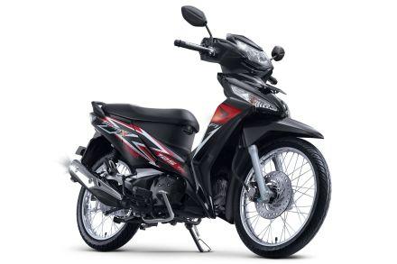 Honda Supra X 125 tipe SW warna Stylist Black/ Hitam