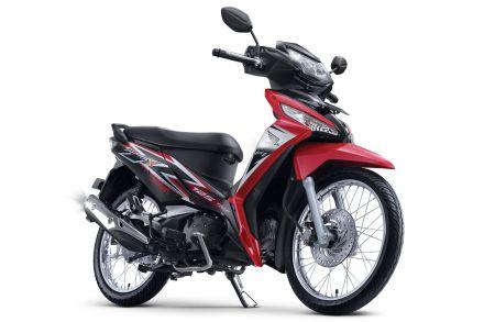 Honda Supra X 125 warna Graceful Red/Merah