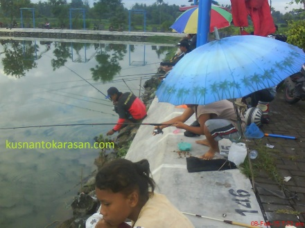 Fishing in Embung Merdeka