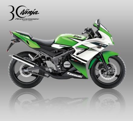 Kawasaki Ninja RR SE warna 30TH green