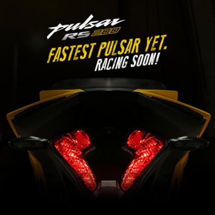 tampak belakang Bajaj Pulsar RS 200