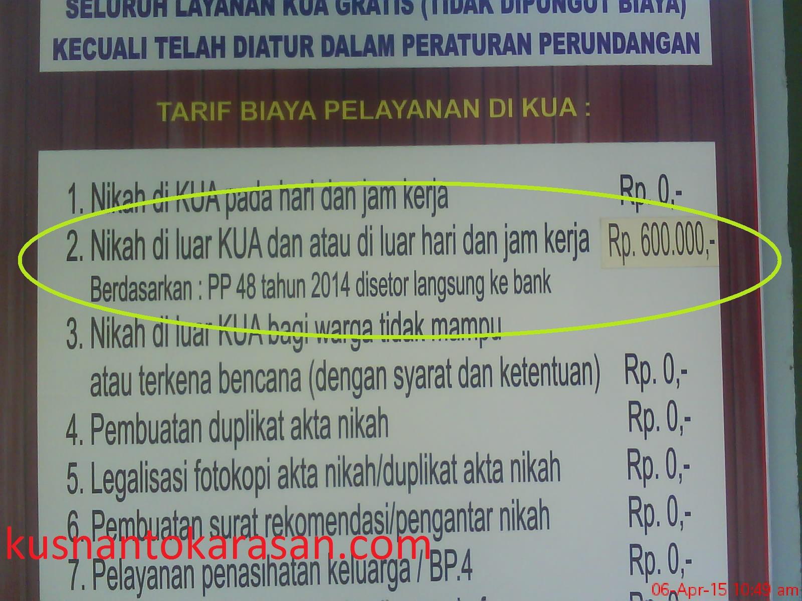 Numpang Nikah Di Kua Bambanglipuro Kusnantokarasancom