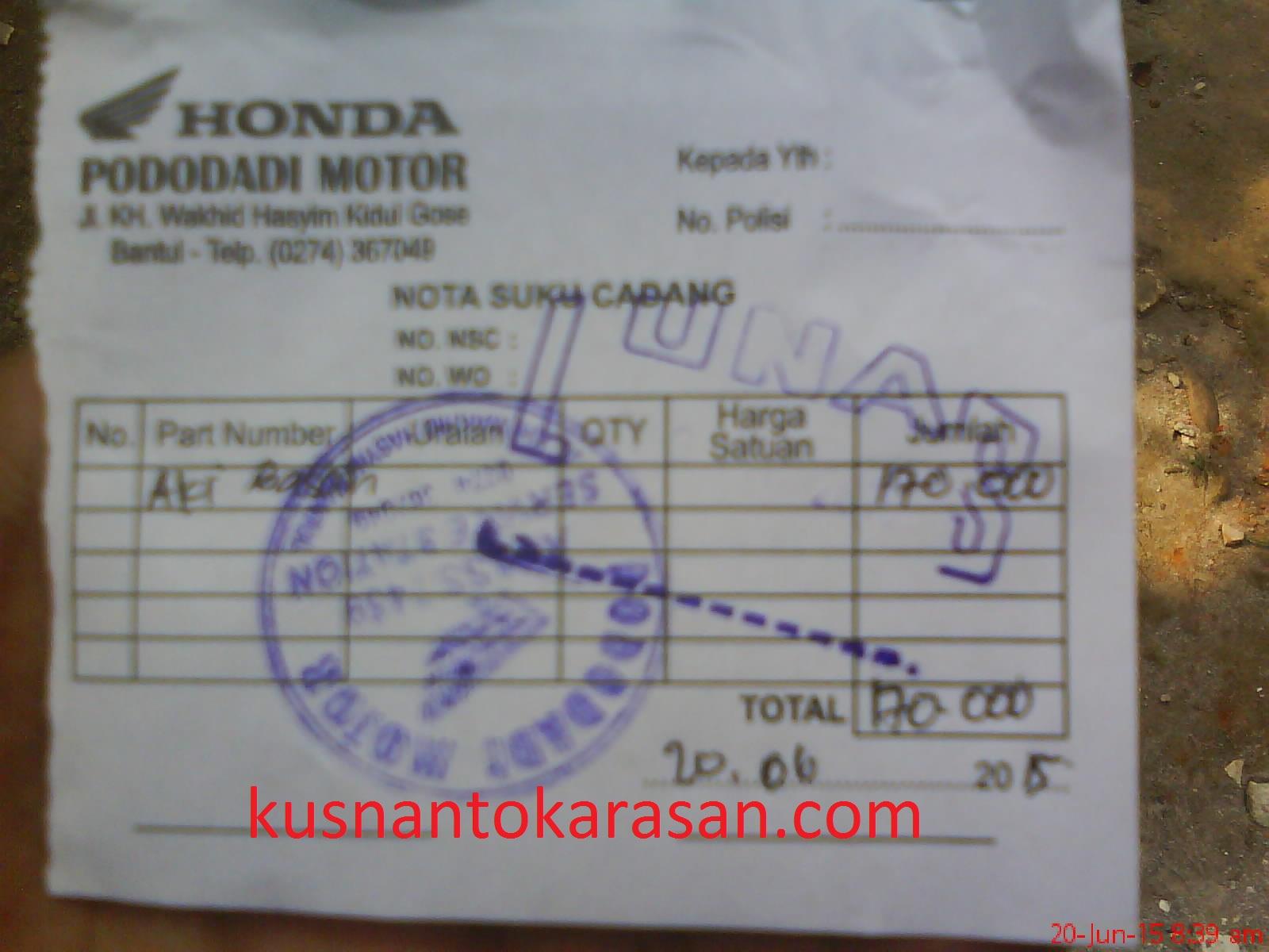 Kode Aki Untuk Motor Honda Supra Series Dan Mega Pro