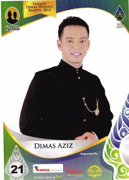 Aziz dalam album Finalis Dimas-Diajeng Bantul 2015
