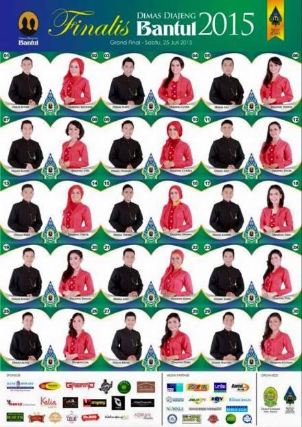 Foto 30 Finalis Dimas-Diajeng Bantul 2015