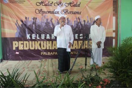 Saat pembacaan Ikrar Syawalan oleh Bapak H Juwadi.