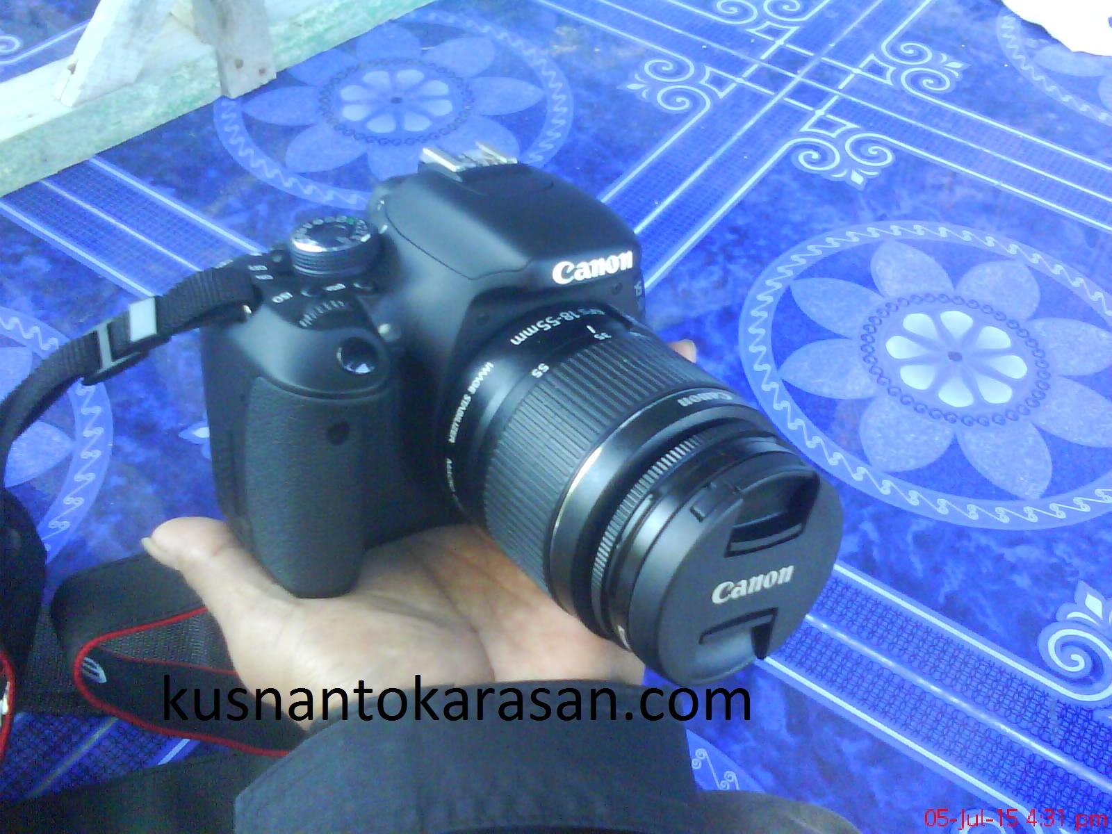 tampilan nyata kamera canon EOS 600D