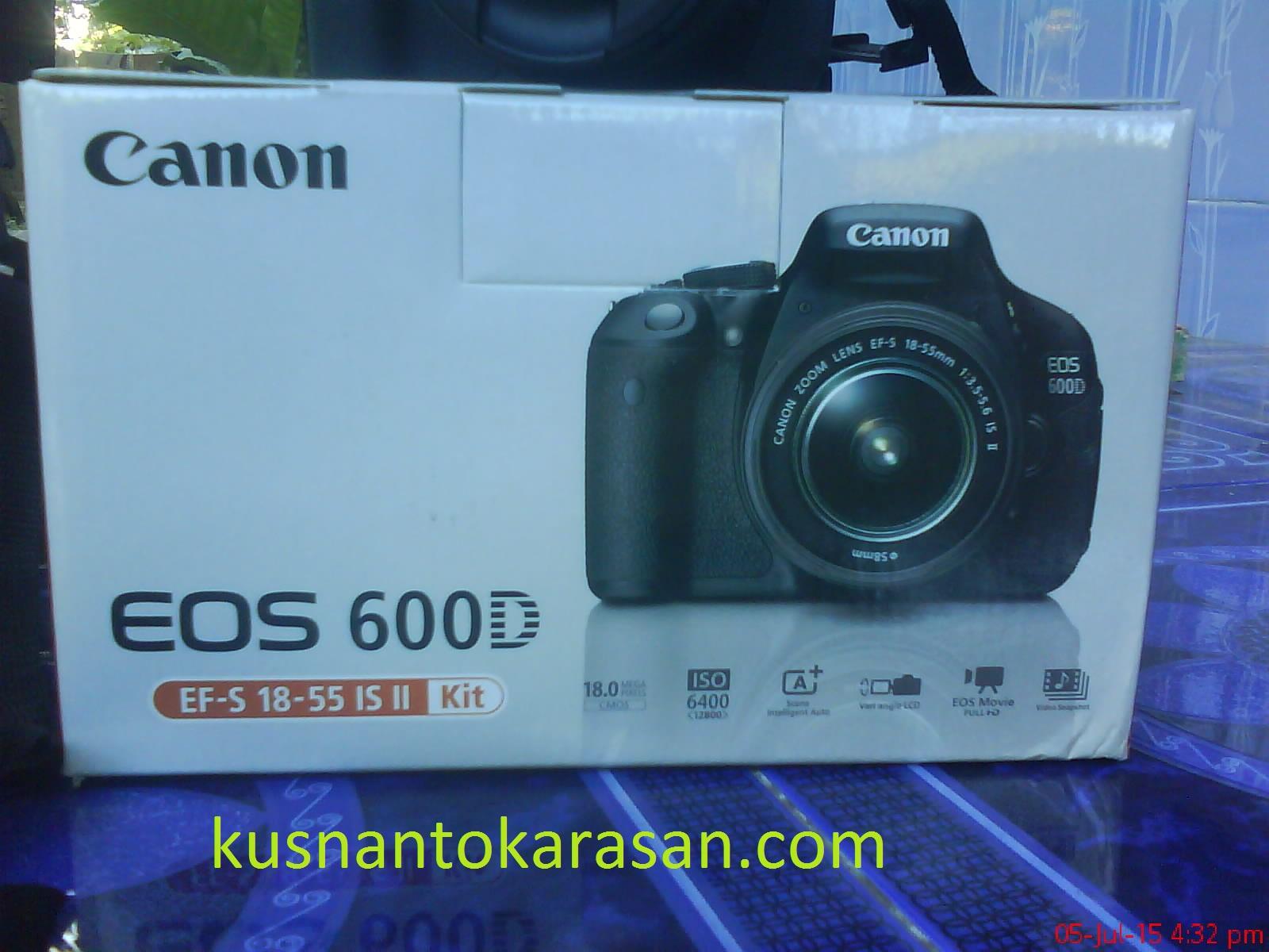 Bungkus kemasan kamera Canon EOS 600D