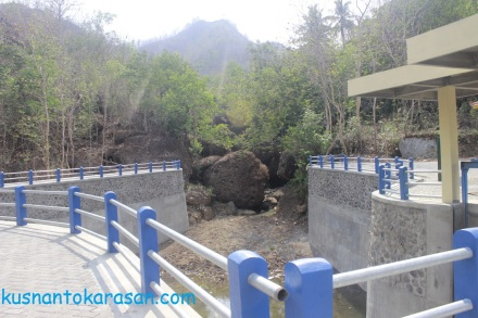 Hulu aliran air Embung Selopamioro