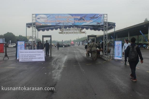 Pintu masuk Gebyar Dirgantara Yogyakarta 2015