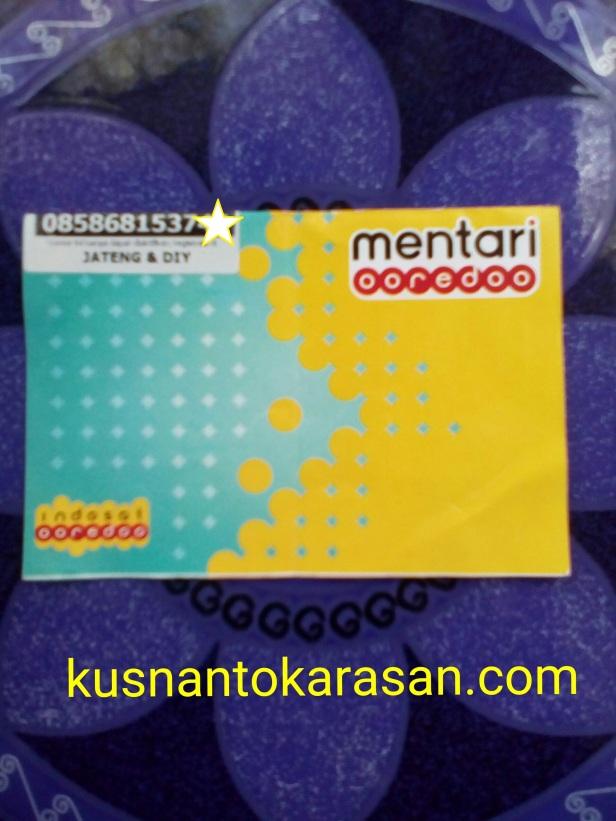 Tampilan kartu perdana indosat Mentari Oredoo