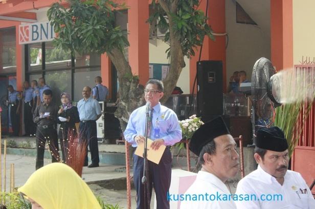 Wakil dari pemprov DIY membacakan sambutan bpk Gubernur DIY
