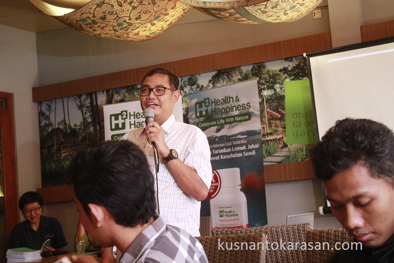 Sambutan humas Kalbe farma Jakarta bpk Heri Nugroho