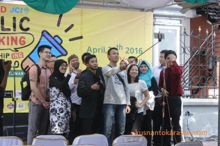 Peserta JCI World Public Speaking Championship 2016 dari berbagai  wilayah Indonesia