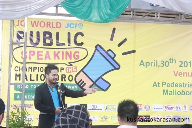 Sambutan President JCI Yogyakarta - M Adib Fikri.