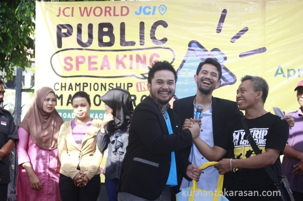 Slamet Santosa pemenang stage holding JCI World Public Speaking Championship 2016