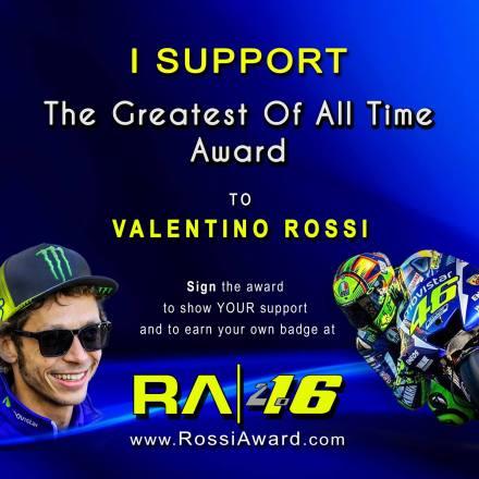 Badge/ lencana dukungan ke Rossi