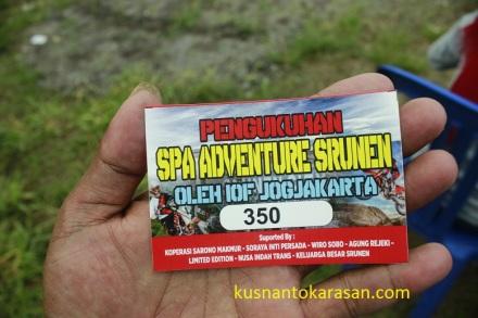 Stiker pengukuhan SPA oleh IOF 2X 1 Jogjakarta