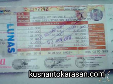 Besaran bea balik nama, denda, dan pajak 5 tahunan sepeda motor di Bantul