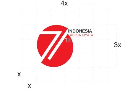 Logo 71 Indonesia Merdeka
