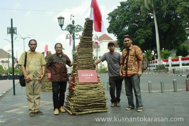 Saat siaran pers pameran seni kriya Undagi di titik Nol Malioboro Yogyakarta