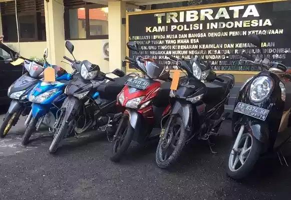 Beberapa motor hasil curanmor  yang diamankan di Polresta Yogyakarta